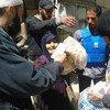 El OOPS distribuye asistencia entre civiles desplazados.