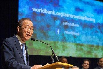 Ban Ki-moon en una sesion conjunta del Banco Mundial y el FMI  Foto archivo Banco Mundial/Simone D. McCourtie ;