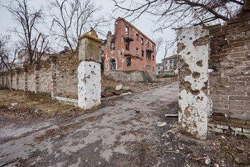 Un hospital en Ucrania destruido en el conflicto. Foto: UNICEF/Pavel Zmey