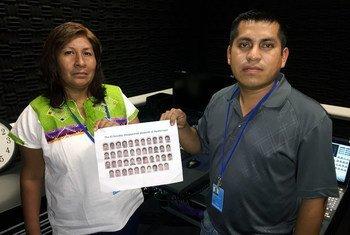 Familiares de los estudiantes desaparecidos en Iguala, México, estuvieron en la ONU para pedir justicia en abril de 2015. Foto de archivo: ONU/Rocio Franco