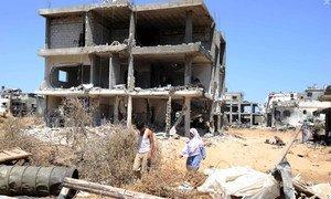 Dégâts à Gaza causés à la suite du conflit de l'été 2014. Photo : UNRWA