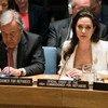 联合国难民高专特使安吉丽娜·朱莉。