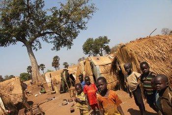 Des enfants déplacés en République centrafricaine. Photo : OCHA/Gemma Cortes