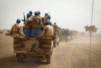 Des Casques bleus tchadiens déployés au sein de la MINUSMA dans le nord du Mali. Photo : MINUSMA / Marco Dormino