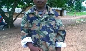 This little boy is not even 5 years old and he is already enrolled in an armed group. UNICEF and partners are working to release him and several thousand other kids in the Central African Republic (CAR).