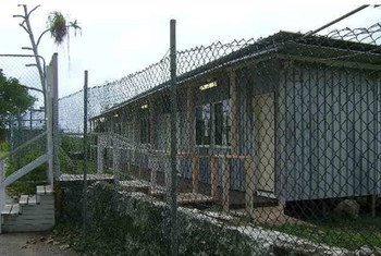 At a social centre for refugees on Nauru, where they are held, conditions are basic.