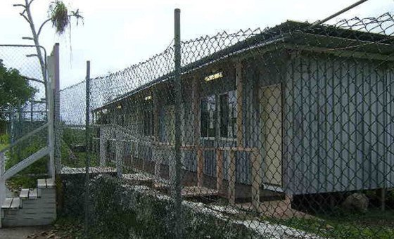 At a social centre for refugees on Nauru, where they are held, conditions are basic. (file)