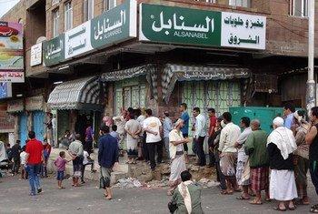 La ville de Taëz, au Yémen, connaît une situation humanitaire difficile à cause du conflit. Photo : PNUD Yémen