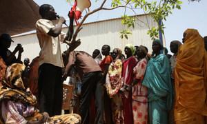 Des personnes déplacées dans l'Etat d'Unité, au Soudan du Sud. Photo HCR