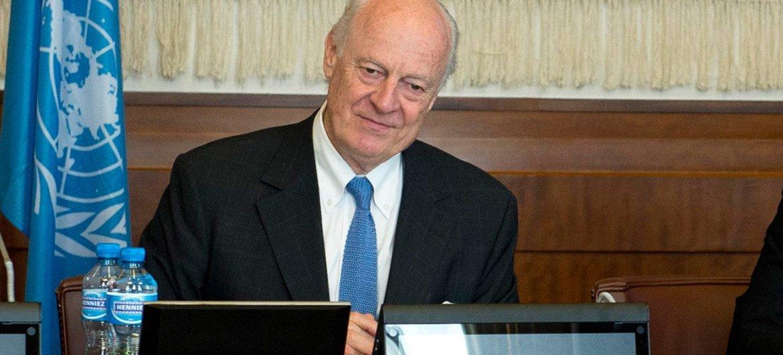 Special Envoy for Syria Staffan de Mistura.