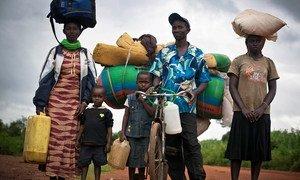 Burundians arriving in Rwanda after fleeing pre-election violence.