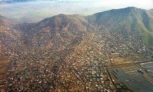 Une vue aérienne de Kaboul, la capitale de l'Afghanistan.