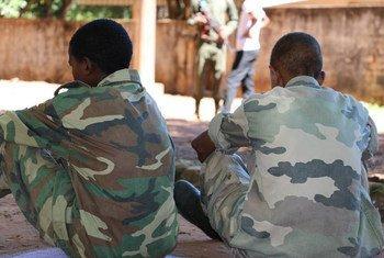 Niños soldados puestos en libertad por grupos armados en mayo en la República Centroafricana  Foto: UNICEFCAR/Donaig Le Du