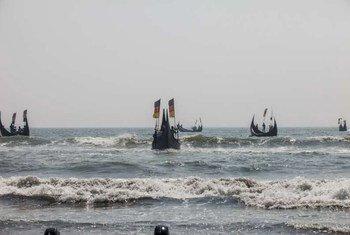 难民署担心许多人困在孟加拉湾和安达曼海上的人口贩运船只里。难民署/S. H. Omi