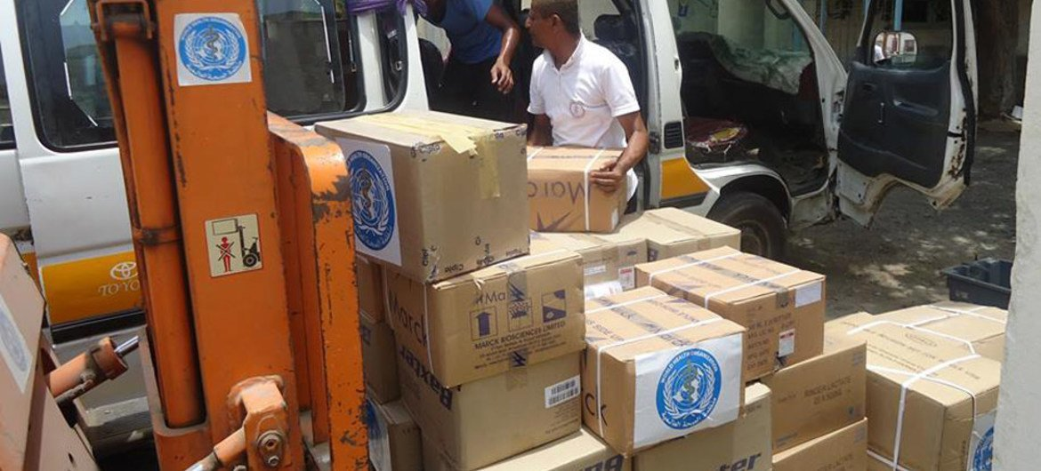An additional 74 tonnes of medicines and medical supplies from WHO's warehouse in Sana'a will be distributed during the humanitarian pause to 14 locations throughout Yemen.