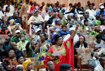2015年5月,在首都班吉举行的中非共和国国家论坛会场。联合国图片/Catianne Tijerina