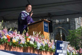 Secretary-General Ban Ki-moon delivers commencement address at Georgetown University in Washington, D.C. May 2015