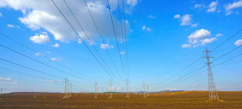 Power lines in Bulgaria.