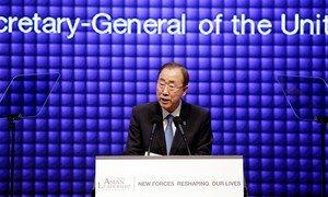 Secretary-General Ban Ki-moon addresses the Sixth Asia Leadership Conference, held in Seoul, Republic of Korea.