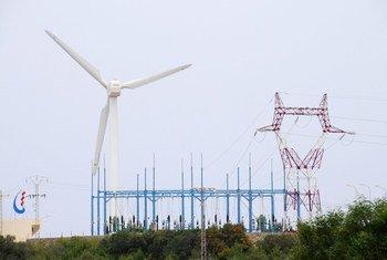 Turbina de viento en una granja en Túnez. Foto: Banco Mundial/Dana Smillie