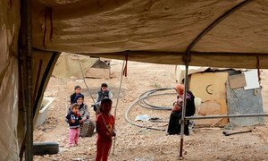 Many Bedouin and herding communities in Area C of the West Bank are prevented from improving or building shelters by the Israeli authorities.(file)
