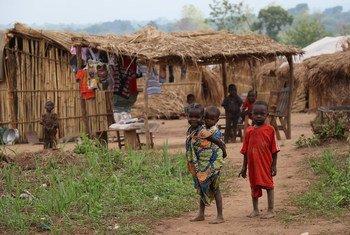 中非共和国流离失所儿童  联合国人道协调厅资料图片/Gemma Cortes