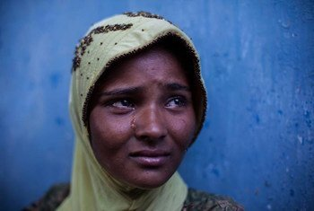 A boat survivor rescued by fishermen in East Aceh, Indonesia.