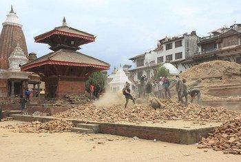Kathmandu Valley, Nepal, after the earthquake.