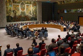 Le Conseil de sécurité de l'ONU se réunit sur les menaces à la paix et à la sécurité internationales causées par des actes terroristes. Photo : ONU / Loey Felipe