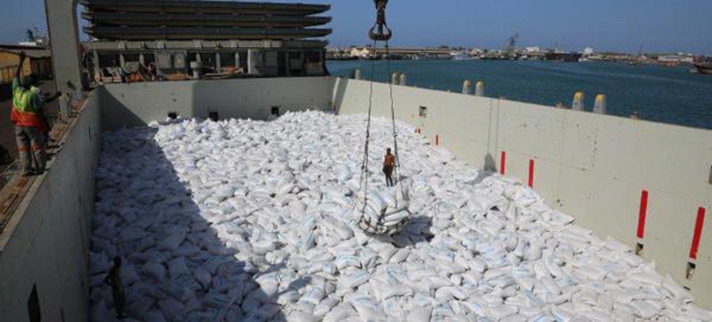 Cargamento de alimentos para Yemen. Foto de archivo: PMA/Dina Elkassab