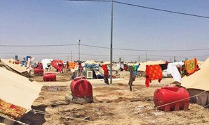 The Abu Ghraib Camp where people who have been displaced from Ramadi province in Anbar Governorate have been relocated.