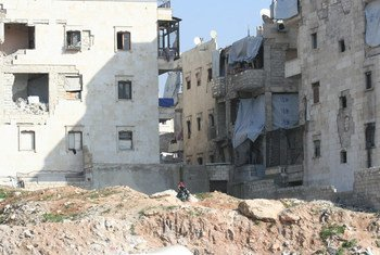 Destruction in Salah Ed Din neighbourhood, Syria.