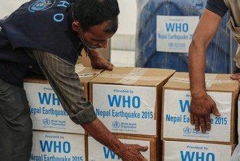 La OMS mandó suministros médicos a Nepal tras el terremoto de abril. Foto de archivo: OMS