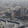 منظر جوي لمدينة القاهرة.