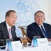 Secretary-General Ban Ki-moon addresses the Congress of Leaders of World and Traditional Religions, in Astana, Kazakhstan.
