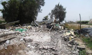 Israeli authorities demolished this residential structure in the Palestinian community of Al Jiftlik Abu Al Ajaj in Area C of the Occupied West Bank in April 2015.