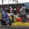 Commerçants de rue au Cap, en Afrique du Sud.