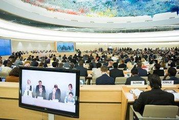 人权理事会会场。联合国/Pierre Albouy