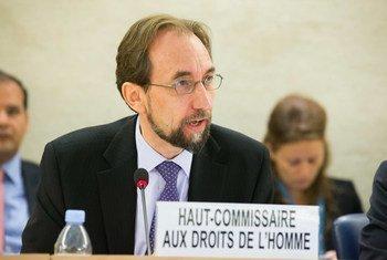 Le  Haut-Commissaire des Nations Unies aux droits de l'homme, Zeid Ra'ad Al Hussein. Photo ONU/Pierre Albouy
