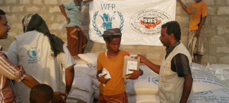 El PMA está distribuyendo alimentos en Yemen. Foto: PMA