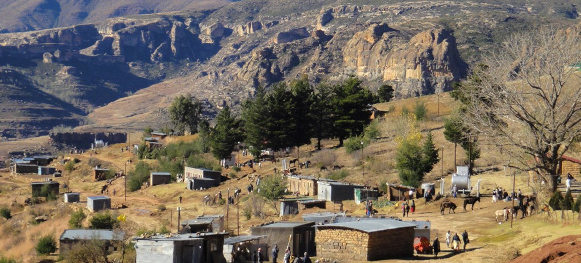The impact of climate change is affecting Lesotho's progress towards development in a number of areas, including agriculture, food security, water resources, public health and disaster risk management.