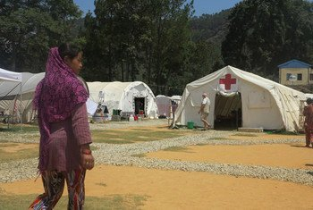 A Norwegian Red Cross field hospital deployed by WHO in coordination with Nepal's Ministry of Health and Population in Sindhupalchok District.