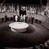 The UN Charter being signed by a delegation at a ceremony held at the Veterans' War Memorial Building on 26 June 1945.