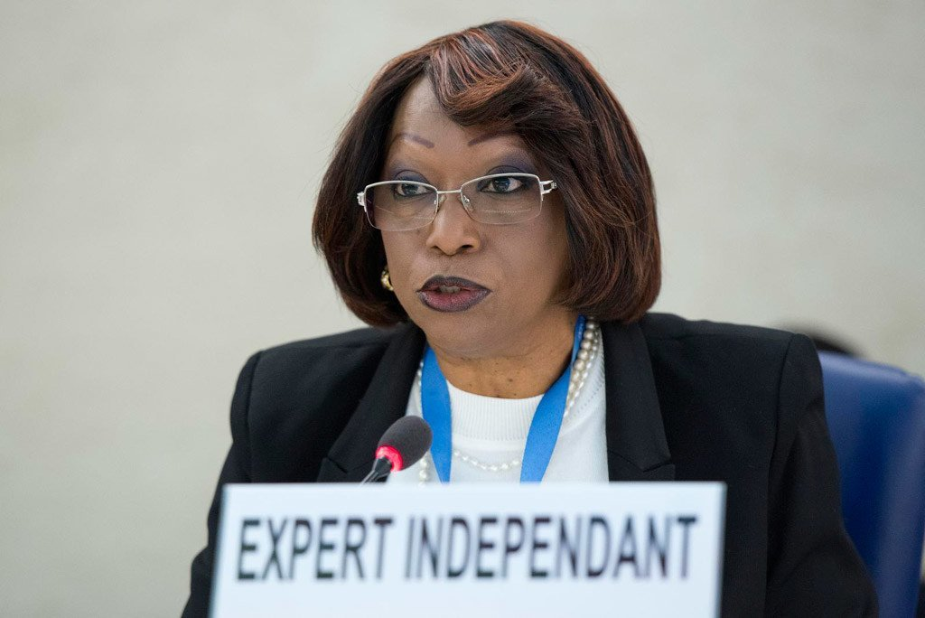 Independent Expert on the situation of Human Rights in Central African Republic (CAR) Marie-Thérèse Keita Bocoum.