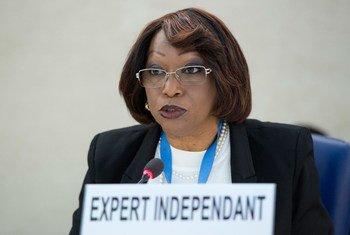 L'experte indépendante pour la situation des droits de l'homme en République centrafricaine (RCA), Marie-Thérèse Keita Bocoum.