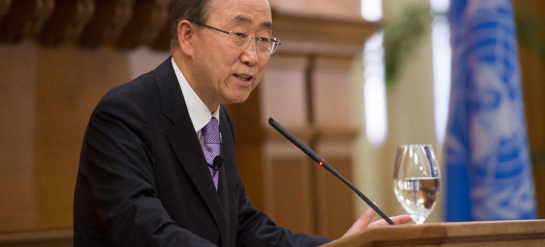 潘基文秘书长资料图片。联合国图片/Mark Garten