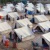 Vista del campamento de desplazados de Al-Jamea, en Bagdad, donde 97 familias iraquíes se refugian temporalmente de la violencia. Foto: UNICEF/Khuzaie