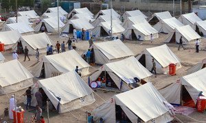 A view of an IDP camp in Al-Jamea, Baghdad, where 97 families from Anbar Governorate have found temporary shelter.