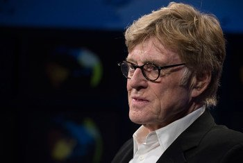 Academy Award-winning actor and environmental activist Robert Redford, at the United Nations for a high-level event on climate change, speaks to the UN News Centre.