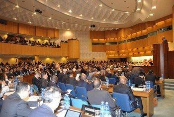 Делегаты Третьей  международной конференции по  финансированию развития